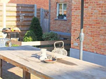 Eiken houten tuintafel