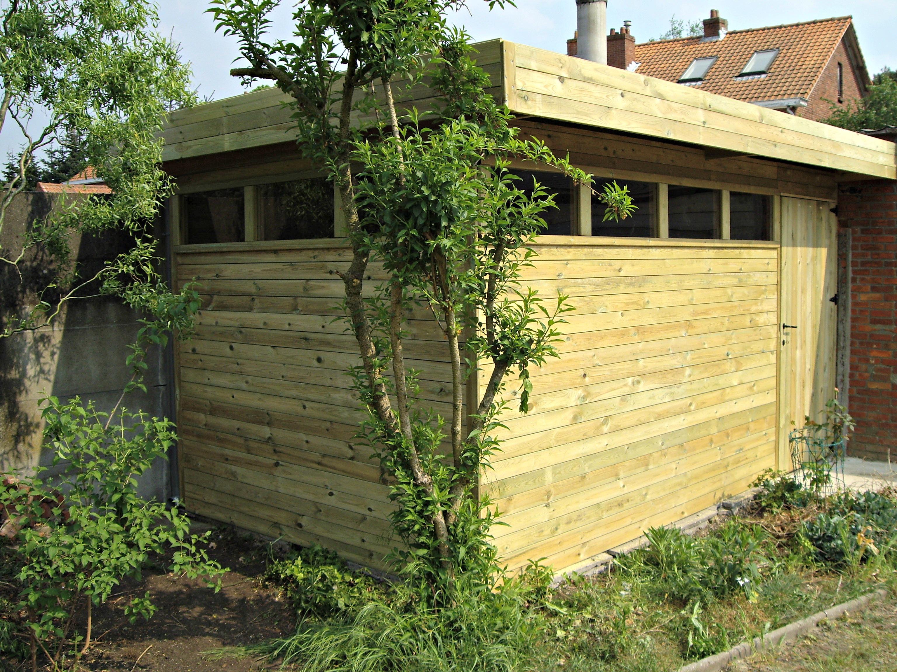 Een houten tuinhuis nodig alfa construct - Ontwerp tuinhuis ...